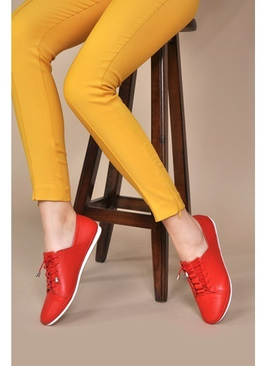 Vizon Ayakkabı Ayakkabı Kırmızı